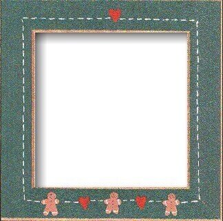 Gingerbread Hearts Frame