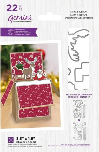 Santa and Rudolph - Stamp and Die Set