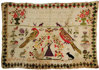 A Welsh Sampler - Mary Griffiths 1873
