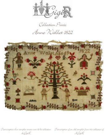 Anne Wallet 1822 - Cross Stitch Pattern