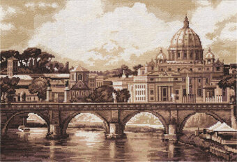 St Paul's Cathedral Rome - Golden Series Cross Stitch Kit