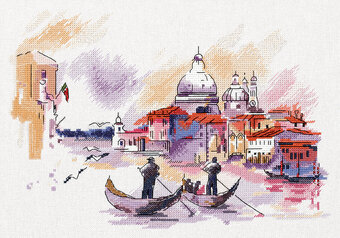 Traveling around Venice - Cross Stitch Kit