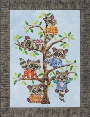 Rambunctious Racoons - Cross Stitch Pattern