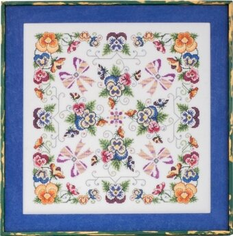 Violaceae - The Pansy Mandala - Cross Stitch Pattern