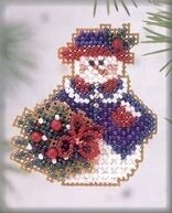 Wintertime Snowlady 2003 - Beaded Cross Stitch Kit
