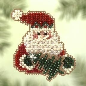 Santa Fir 2005 - Beaded Cross Stitch Kit