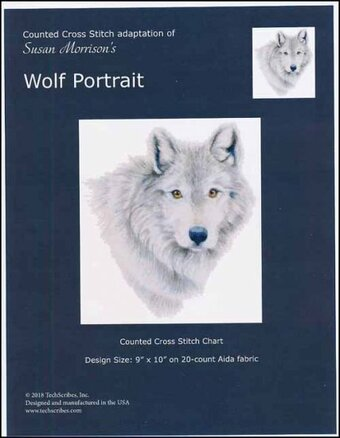 Wolf Portrait - Cross Stitch Pattern
