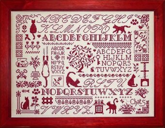 Sampler Aux Chats - Cross Stitch Pattern