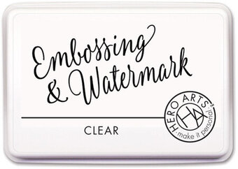 Clear Embossing and Watermark Ink