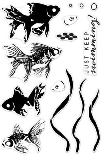 Color Layering Goldfish - Clear Stamp