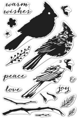 Color Layering Cardinal - Clear Stamp