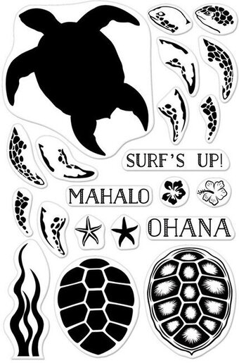 Color Layering Sea Turtle - Clear Stamp