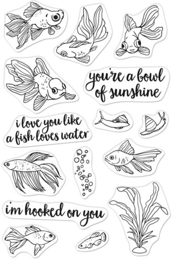 Pet Goldfish - Clear Stamp