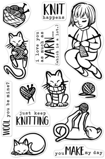 Knitting - Clear Stamp