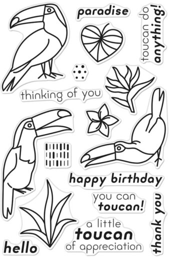 Hello Toucan - Clear Stamp