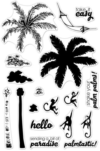Color Layering Palm Tree - Clear Stamp