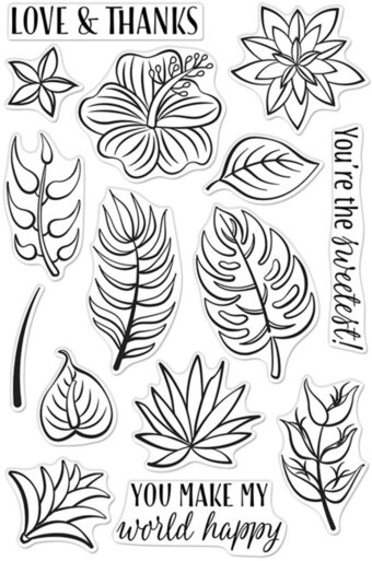 Tropical Flowers - Clear Stamp