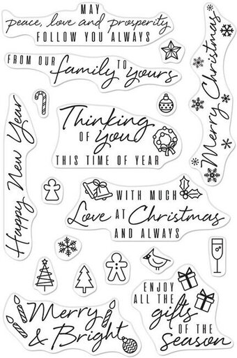 Holiday Messages and Icons - Christmas Clear Stamp
