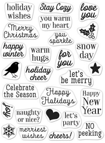 Hero Greetings Christmas Messages - Clear Stamp
