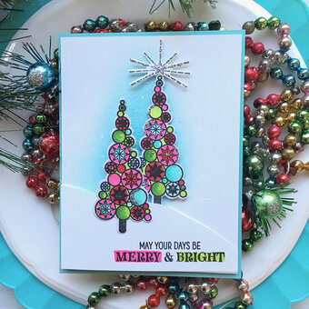 Stylized Christmas Trees - Clear Stamp