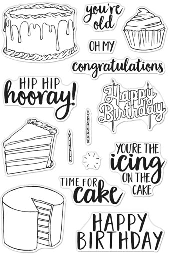 Time For Cake - Clear Stamp