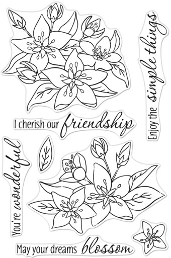 Dreams Will Blossom - Clear Stamp