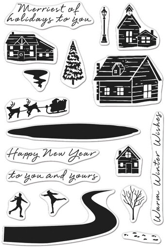 Snowy Town - Clear Stamp