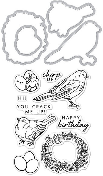 Chirp - Clear Stamps With Matching Dies