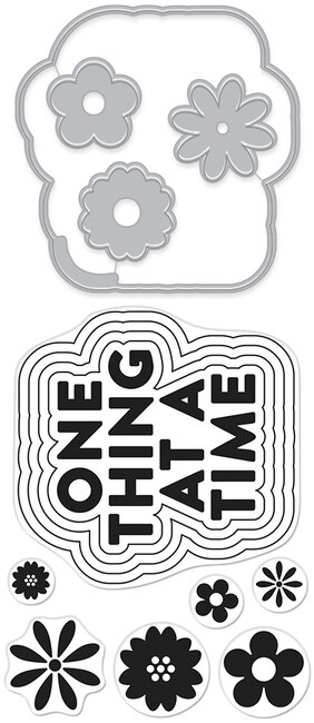 One Thing At A Time Stamp and Cut - Stamp and Die Set