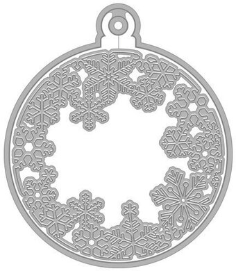 Snowflakes and Christmas Ornament - Craft Die