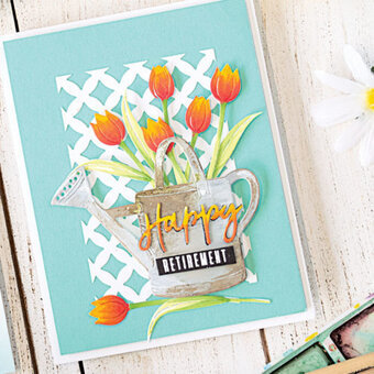 20 blue garden flowers card toppers Impression Obsession paper die cuts spring