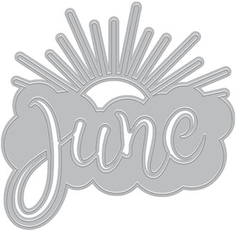 June Word Fancy Die - Craft Die