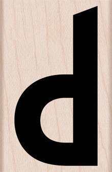 Lowercase Letter D - Rubber Stamp