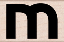 Lowercase Letter M - Rubber Stamp