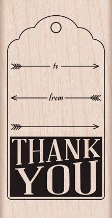 Thank You with Arrows - Rubber Stamp