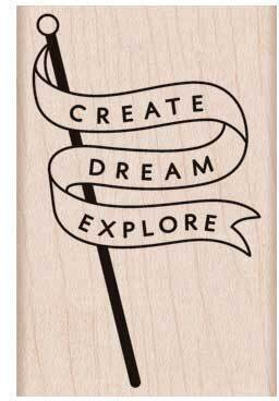 Explore Banner - Rubber Stamp
