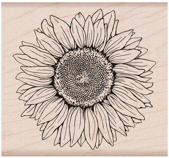 Sunflower - Rubber Stamp