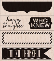 Happy Thoughts - Rubber Stamp