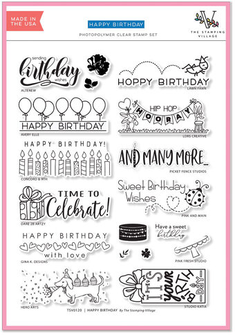 Happy Birthday by The Stamping Village - Clear Stamp