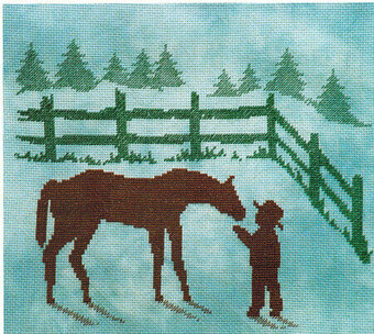 Horse and Child - Cross Stitch Pattern