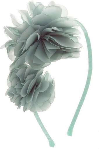 Multi-Layered Flowers With Satin Headband - Mint