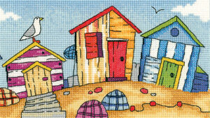 Beach Huts - By the Sea - Cross Stitch Pattern