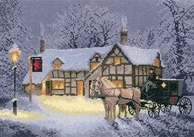 Christmas Inn - John Clayton - Cross Stitch Pattern