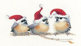 Festive Chicks - Cross Stitch Pattern