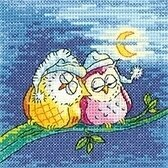 NIght Owls - Birds of a Feather - Cross Stitch Pattern