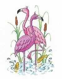 Flamingos - Cross Stitch Pattern