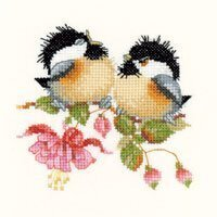 Fuschia Chick-Chat - Cross Stitch Pattern