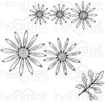 Wild Aster - Heartfelt Creations Cling Stamp