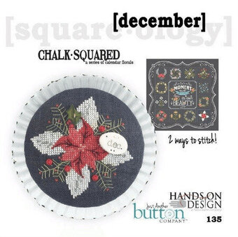 Chalk Squared December - Cross Stitch Pattern