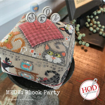 Meow - Block Party - Cross Stitch Pattern